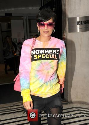 Lily Allen and Lily Allen - Lily Allen leaves Radio 2 - London, United Kingdom - Friday 25th April 2014