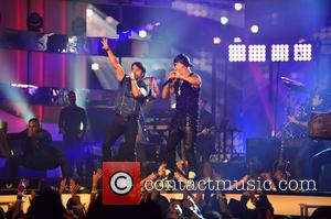 Luis Fonsi and Wisin - Billboard Latin Music Awards 2014 held at Bank United Center - Show - Coral Gables,...
