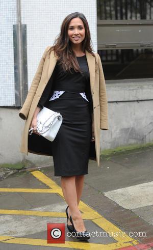 Myleene Klass - Myleene Klass leaving the ITV studios - London, United Kingdom - Friday 25th April 2014