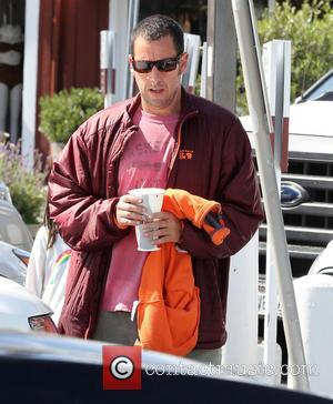 Adam Sandler - Adam Sandler out in Brentwood - Los Angeles, California, United States - Saturday 26th April 2014