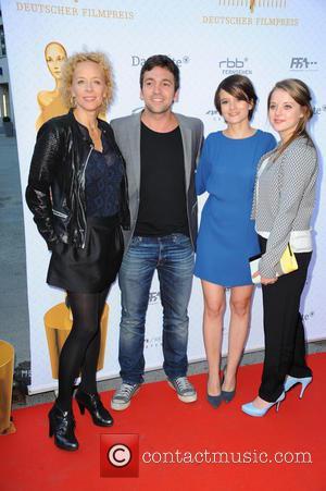 Katja Riemann, Bora Dagtekin, Lena Schoemann and Jella Haase - Deutscher Filmpreis 2015 nominees night at 40Seconds Club - Arrivals...