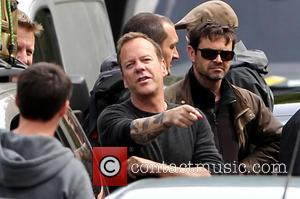 Kiefer Sutherland - Kiefer Sutherland films a scene for Live another Day in London - London, United Kingdom - Saturday...