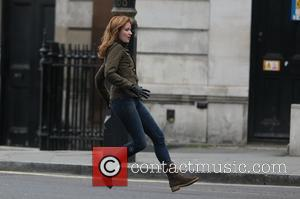 Emily Berrington - Filming takes place in Trafalgar Square for Live another Day in London - London, United Kingdom -...