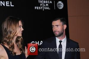 Behati Prinsloo and Adam Levine - Begin Again premiere at Tribeca Perfoming Arts Center - NY, New York, United States...