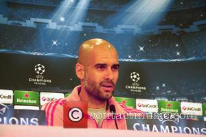 Pep Guardiola - Bayern Munich FC - Champions League - Press Conference - MUENCHEN, Bayern, Germany - Monday 28th April...