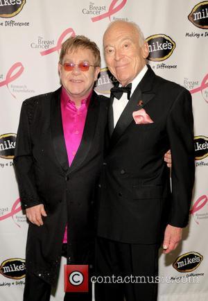 Elton John and Leonard Lauder