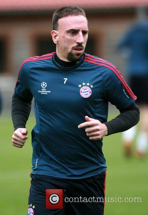 Franck Ribery - Bayern Munich and Real Madrid train at Bayern Munich's training ground ahead of their Champions League semi-final...