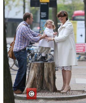 Kate Silverton and family - Kate Silverton and family outside ITV Studios - London, United Kingdom - Monday 28th April...