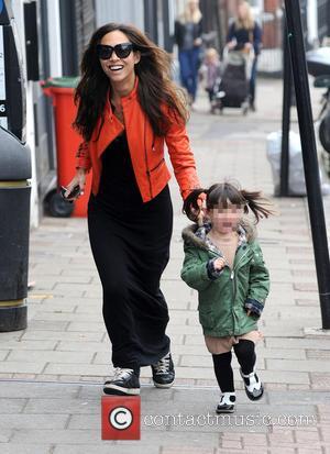 Myleene Klass and Hero Quinn - Myleene Klass out in London with her daughter - London, United Kingdom - Monday...