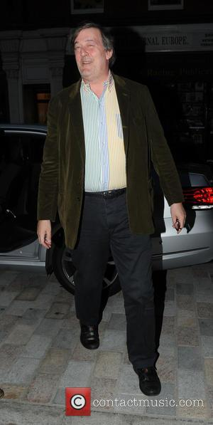 Stephen Fry - Celebrities at the Chiltern Firehouse restaurant in Marylebone - London, United Kingdom - Monday 28th April 2014