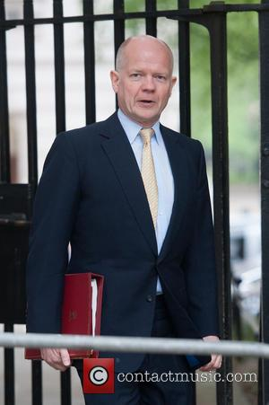 William Hague - Ministers and politicians arrive for a Cabinet meeting at 10 Downing Street. - London, United Kingdom -...