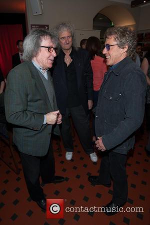 Bill Wyman, Brian May and Roger Daltrey - Sir Peter Blake mural launch held at the Royal Albert Hall. His...
