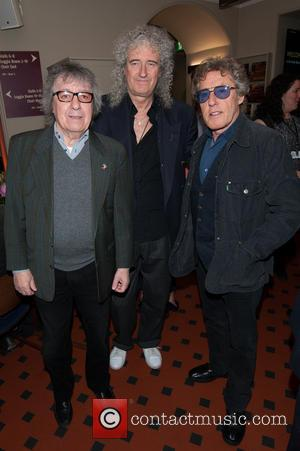 Bill Wyman, Brian May and Roger Daltrey