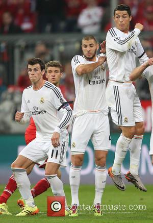 Cristiano Ronaldo, Karim Benzema and Gareth Bale - Bayern Munich vs Real Madrid - Champions League - Semi Final -...