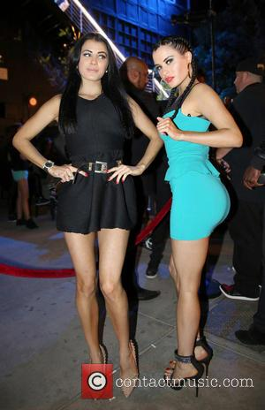 Carla Howe and Melissa Howe - The Howe Twins attend the grand opening of Penthouse in West Hollywood - Los...