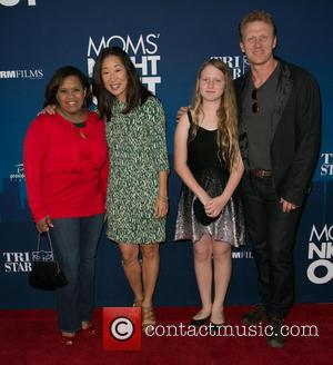 Chandra Wilson, Sandra Oh, Guest and Kevin McKidd - Moms Night Out Premiere at TCL Chinese Theater - Red Carpet...
