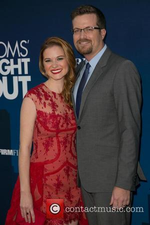 Sarah Drew and Peter Lanfer - Moms Night Out Premiere at TCL Chinese Theater - Red Carpet - Los Angeles,...