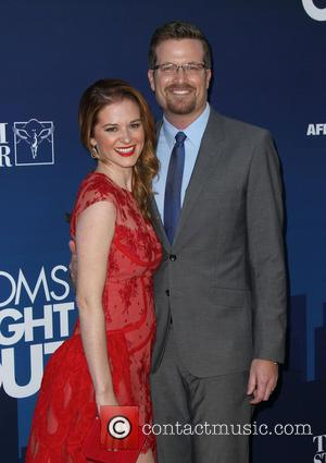 Sarah Drew and Peter Lanfer - Premiere of 'Mom's Night Out' held at the TCL Chinese Theatre IMAX - Arrivals...