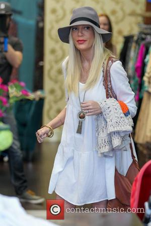 Tory Spelling - Tori Spelling goes shopping in Encino for an episode of her reality show 'True Tori' - Los...
