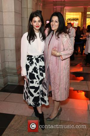 Katie Melua and Mother Tamara Melua - Wedding Dresses 1775 - 2014 - VIP private view held at the V&A...