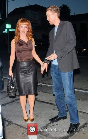 Kathy Griffin and Randy Bick - Kathy Griffin arriving at Craig's Restaurant in West Hollywood with boyfriend Randy Bick -...