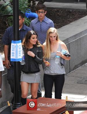 Lea Michele, Heather Morris and Kevin Mchale