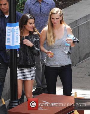 Lea Michele and Heather Morris