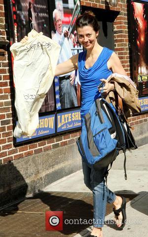 David Letterman and Carmen Lynch
