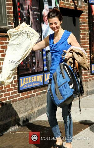 Carmen Lynch - Celebrities outside the Ed Sullivan Theater for their taping on the Late Show with David Letterman. -...