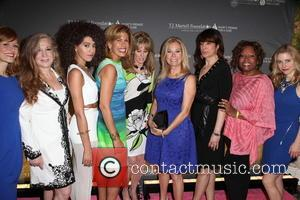 L to R, Kerry Butler, Randi Rahm, Jetta, Hoda Kotb, Laura Heatherly, Kathie Lee Gifford, Sharon Dastur, Robin Quivers and Megan Sikora