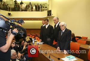 Andreas Weitzell, Norbert Scharf, Bernie Ecclestone and Sven Thomas