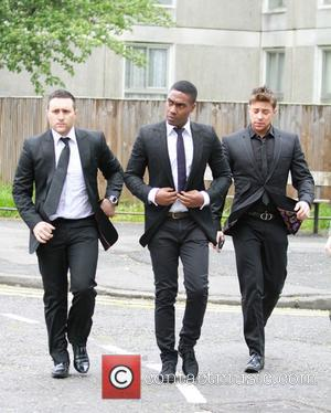 Duncan James, Simon Webbe and Antony Costa - Lee Ryan arrives at Ealing Magistrates Court - London, United Kingdom -...