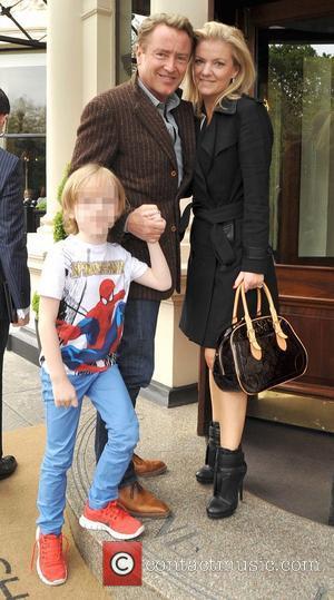 Michael Flatley, Niamh Flatley and Michael Flatley Jnr. - Michael Flatley arrives at the The Shelbourne Dublin hotel with his...