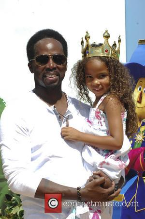 Harold Perrineau and daughter - 'Legends of Oz: Dorothy's Return' premiere - Arrivals - Los Angeles, California, United States -...