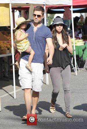 Roselyn Sanchez, Eric Winter and Sebella Winter - Roselyn Sanchez at the farmers' market with her husband, Eric and daughter,...