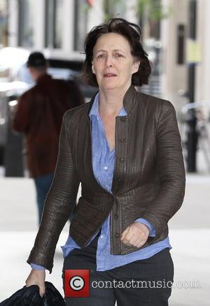 Fiona Shaw - Arrivals for The Andrew Marr Show at BBC Broadcasting House in London. Guests included Ed Miliband, Nigel...