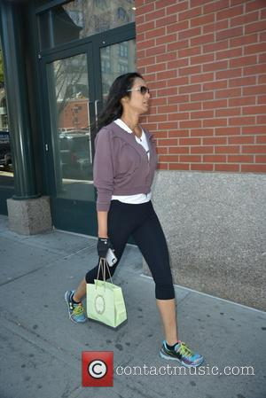 Padma Lakshmi - Padma Lakshmi returning from the gym - Manhattan, New York, United States - Monday 5th May 2014