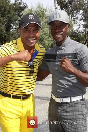 Sugar Ray Leonard and Don Cheadle
