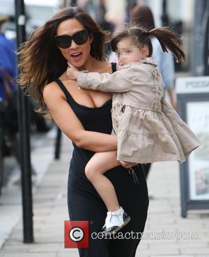 Myleene Klass and Hero - Myleene Klass out near her London home with her daughters Ava and Hero - London,...