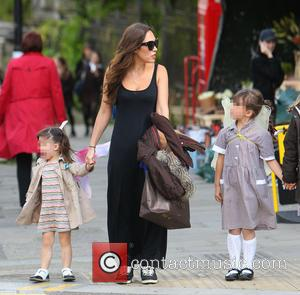 Myleene Klass - Myleene Klass out near her London home with her daughters Ava and Hero - London, United Kingdom...