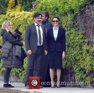 Colin farrell and Rachel Weisz - Colin Farrell and Rachel Weisz seen filming scenes for the movie 'The Lobster' at...