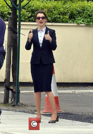 Rachel Weisz - Colin Farrell and Rachel Weisz seen filming scenes for the movie 'The Lobster' at Joel's Restaurant on...
