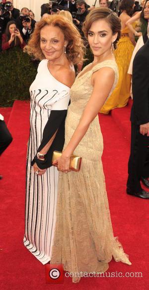 Diane von Furstenberg and Jessica Alba - 'Charles James: Beyond Fashion' Costume Institute Gala at the Metropolitan Museum of Art...