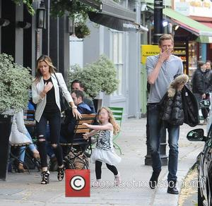 Abbey Clancy, Peter Crouch and Sophia Ruby