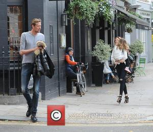 Abbey Clancy, Peter Crouch and Sophia Ruby - Abbey Clancy and Peter Crouch seen after having a family meal in...