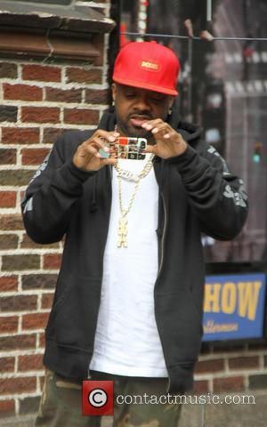 Jermaine Dupri - Celebrities outside the Ed Sullivan Theater for their taping on the Late Show with David Letterman -...