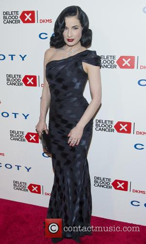 Dita Von Teese - 2014 Delete Blood Cancer Gala at Cipriani Wall Street - Arrivals - New York, United States...