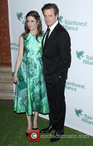 Livia Firth and Colin Firth - 2014 Rainforest Alliance Gala at American Museum of Natural History - Arrivals - New...