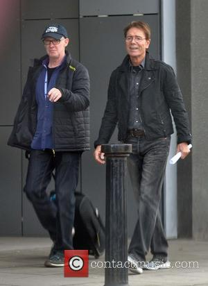 Cliff Richard - Singer Cliff Richard seen leaving the Liffey Trust Studios. Cliff stopped and posed for a photo for...