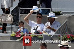 Cristiano Ronaldo and son at the Mutua Madrid Open - Madrid Spain -  Thursday 8th May 2014 47ace480b